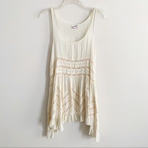 Free People Intimately Ivory Voile Lace Trapeze